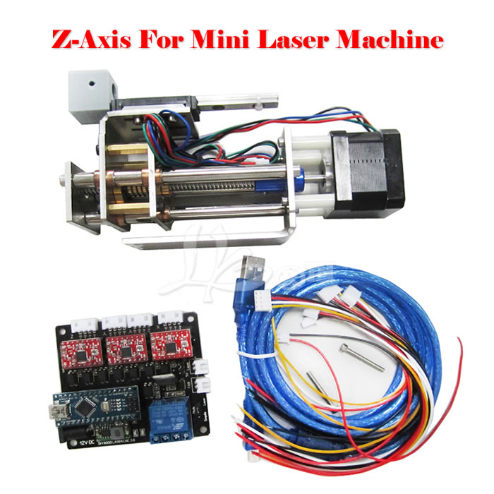LY DPS-01 Laser engraving machine convert to 3 axis CNC model DIY Z axis slide platform suite with pen clamp 2017 hot sale model 5 axis cnc engraving