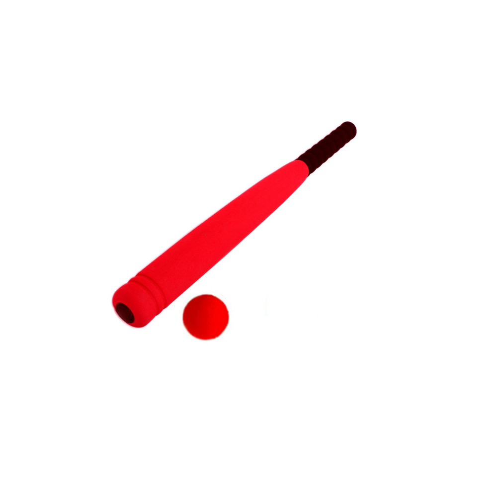 Super Safe Foam Baseball Bat With Baseball Toy Set For Children Age 3 To 5 Years Old (Red)