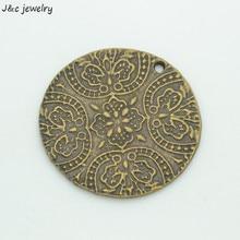 3 шт. металлический античный бронзовый цветок подвески для diy Ювелирные изделия палочки 39*39 мм 35105A