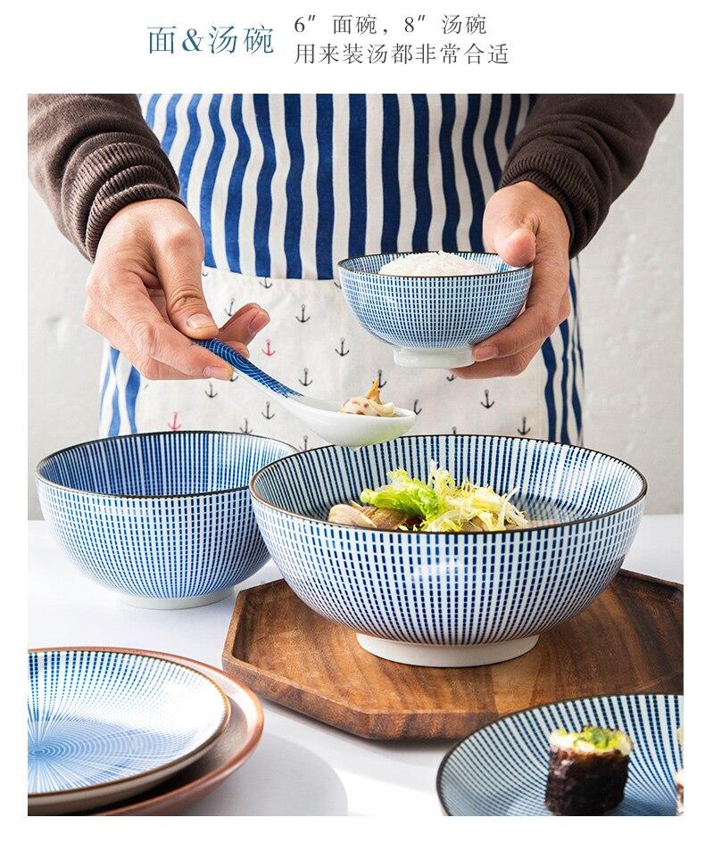 42 pièces japonais couverts ensembles créatifs et plats à vent bols soucoupes poterie plats personnalités vaisselle bols