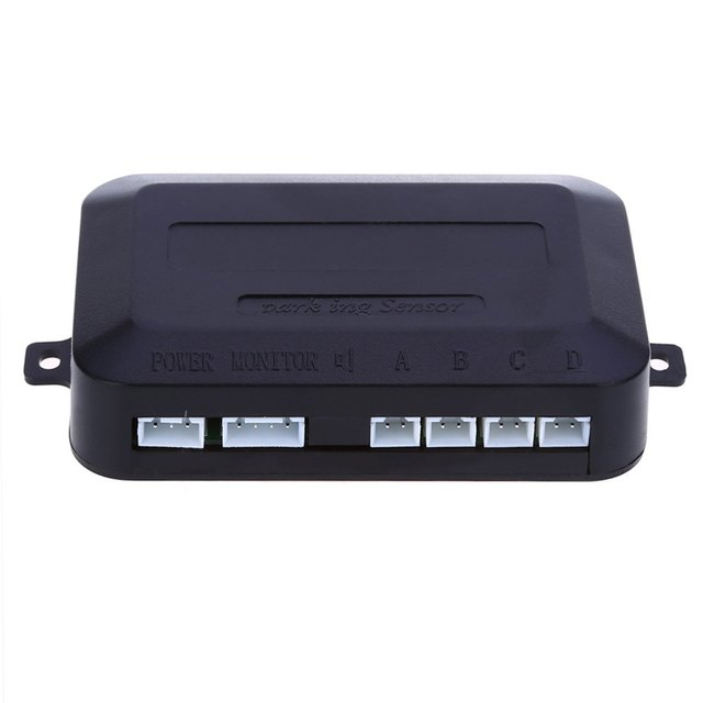 Hot sale Parktronic 4 Car Parking Sensors sensor Car Backup Reverse Radar Rearview Mirror Sound Alert Set car detector -white