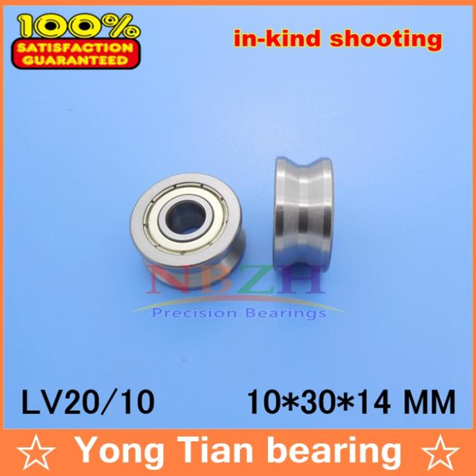 10pcs high quality v groove Guide roller bearings LLV20 10 ZZ V 30 LV2018 RV20 10