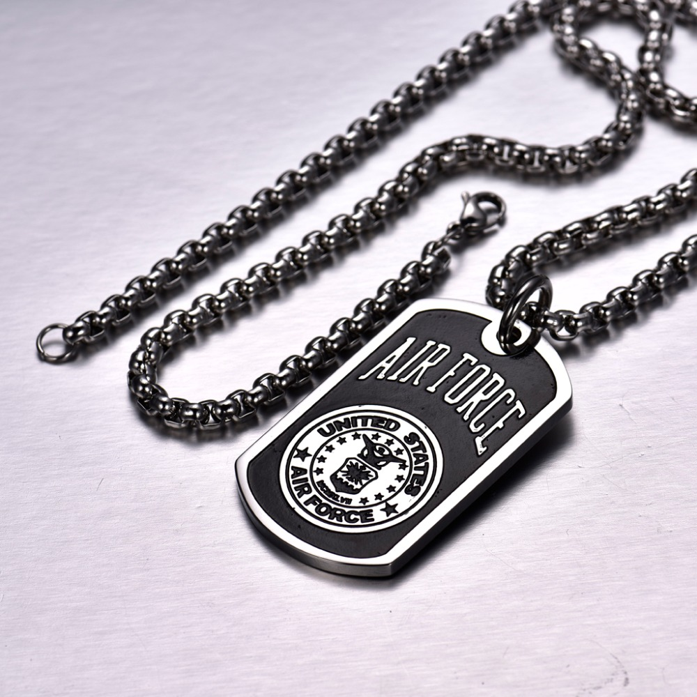Xiagao new design air force pendant necklace titanium steel knights xiagao new design air force pendant necklace titanium steel knights templar elegant charm irises decorative pattern jewelry p25 in chain necklaces from aloadofball Choice Image