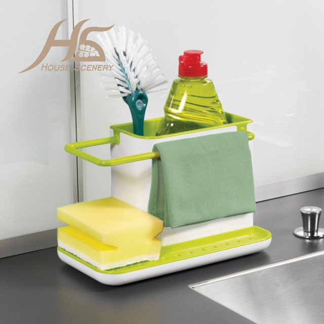 House Scenery Creative Kitchen Storage Shelves Glove Storage Rack Practical  Cooking Tools Cutlery Sponge Holder Dish
