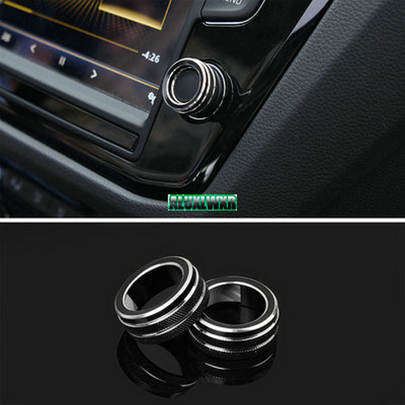 Car Interior Button Audio Stereo Volume Control Knob Ring Cover for VW Volkswagen Tiguan Atlas t