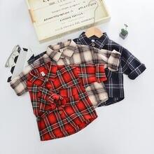 Рубашка с длинным рукавом для маленьких девочек и мальчиков