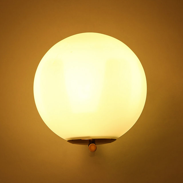 Online Shop Post Modern Sconce Lights Frosted Glass Ball Wall Light ...
