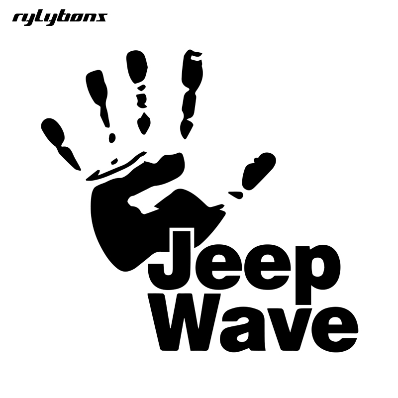 rylybons full body car sticker Jeep Wave motorcycle 15 15cm vinyl car stickers and decals car