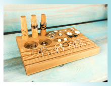 Solid Wood Vintage Jewelry Display Holder Wood Ring, Earrings, Display Tray Jewelry Display Tray