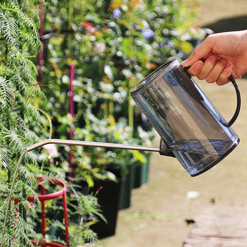 Pp Gießkanne Mit Edelstahl Lange Mund Pflanze Bewässerung Topf