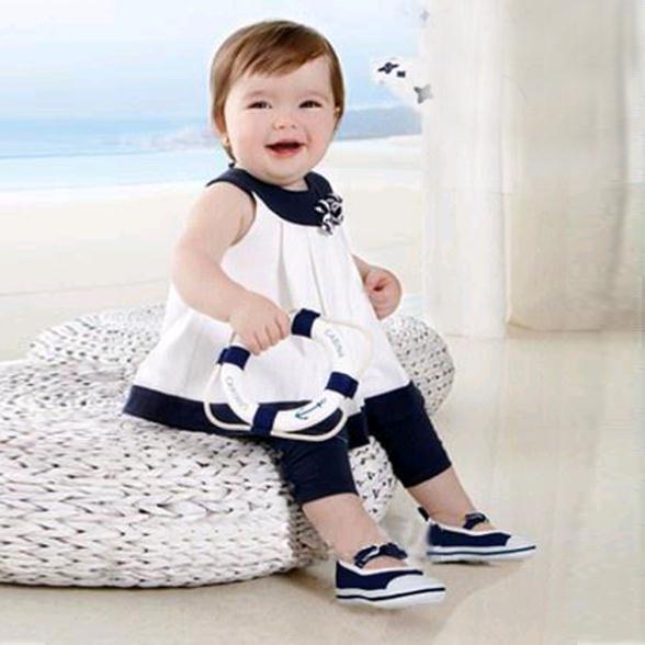 Новый Детская рубашка с цветами для маленьких девочек одежда комплект одежды из 2 ПРЕДМЕТОВ; Топы + штаны 0-3 лет XL075