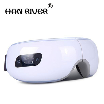 Electric Air pressure Eye massager with mp3.Wireless Vibration Magnetic heating therapy massage device.myopia care glasses