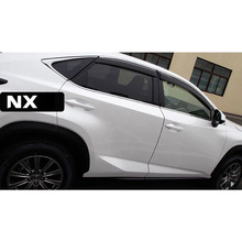 цена на lsrtw2017 ppma material car window rain shield for lexus nx200t nx200 nx300h 2015 2016 2017 2018 2019