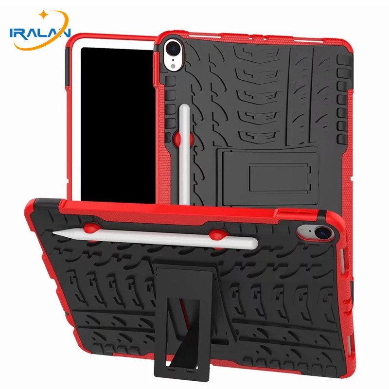 Hybrid Rugged 2 in 1 Stand Case For Apple iPad Pro 11 2018 Soft TPU+Hard PC Tablet Cover For New iPad Pro 11 inch+Screen Film