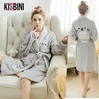 KISBINI Womens Pajamas Sweet Animal Cartoon Autumn Winter Sleepwear Pajamas Woman Indoor Clothing Home Suit Comfortable