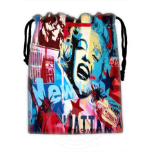 H-P749 Custom Marilyn Monroe collage#8 drawstring bags for mobile phone tablet PC packaging Gift Bags18X22cm SQ00806#H0749