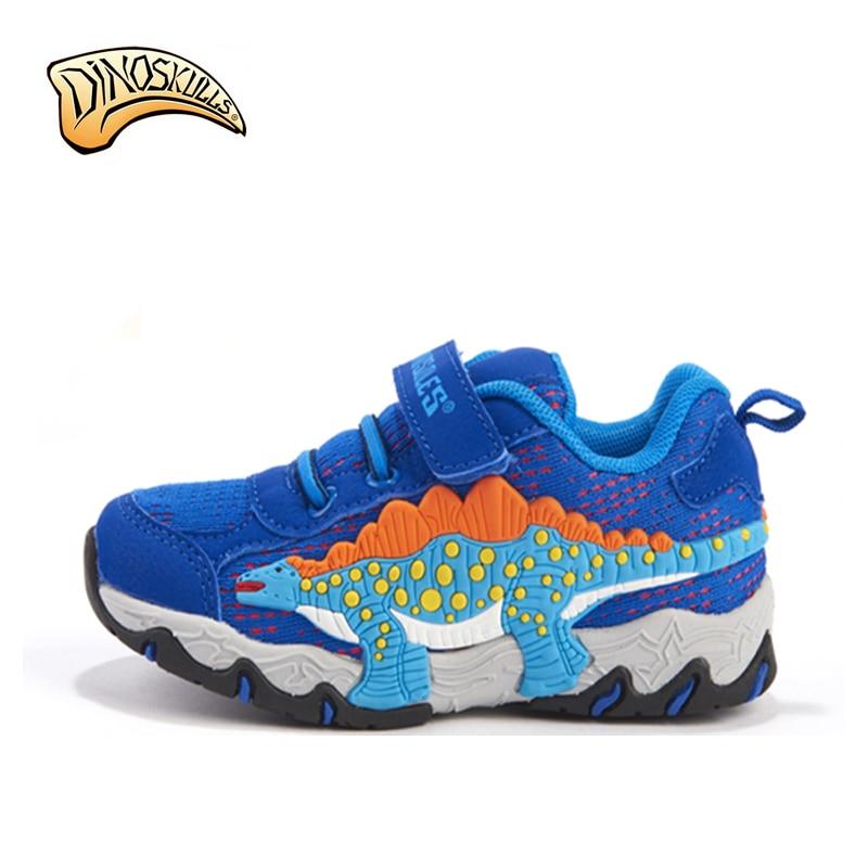 2018 کفش ورزشی مش پسرانه کفش های ورزشی دایناسور بچه ها کفش بچه ها کفش های ساحل پسران کفشهای ساحلی پسران انفانتیل 3D دایناسور کفش های قابل تنفس اندازه 27-34