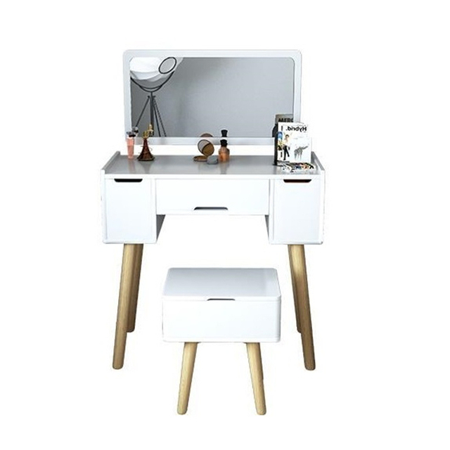 makeup box coiffeuse mueble de dormitorio mesa vanity drawer retro wood penteadeira korean table bedroom furniture
