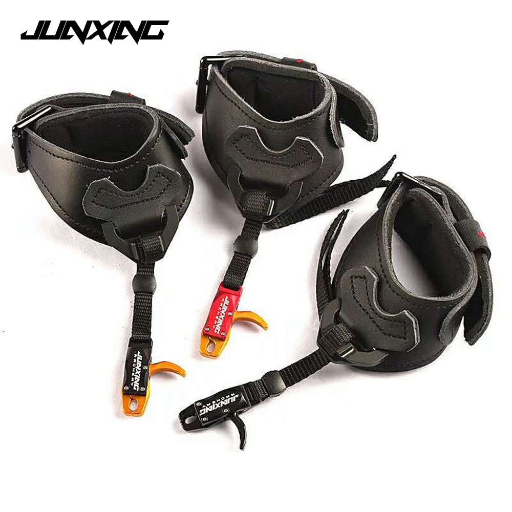 3 Color Bow Release Metal Leather Strength Saving Release for Compound Bow Archery Shooting-in Bow & Arrow from Sports & Entertainment    1
