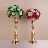 2018 new style Gold wedding flower vase table stand wedding decoration Party Props 10 pcs/lot