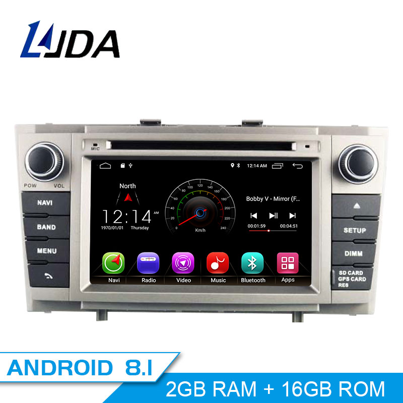 LJDA 2 Din Android 8 1 Car DVD Player For Toyota Avensis T27 2009 2014 Wifi