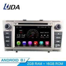 LJDA 2 Din Android 8,1 dvd-плеер автомобиля для Toyota Avensis T27 2009-2014 Wifi gps Радио 2 GB Оперативная память 16G Встроенная память Quad сердечники Мультимедиа USB