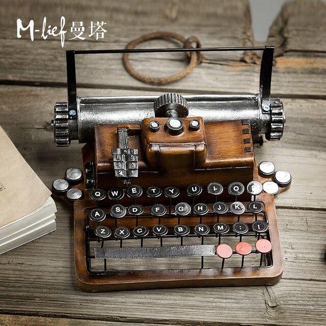 US $63.2  Americano retrò Arredamento creativo decorazione soggiorno  decorazione armadio modello macchina da scrivere in resina Arredamento Per  La ...