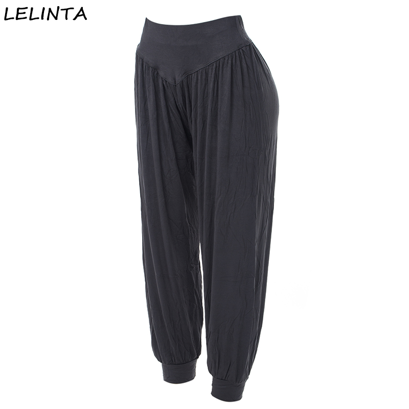 LELINTA New Fashion Women Casual Pants High Waist Deep Gray Pant Dance Club Wide Leg Loose Long Bloomers Trousers