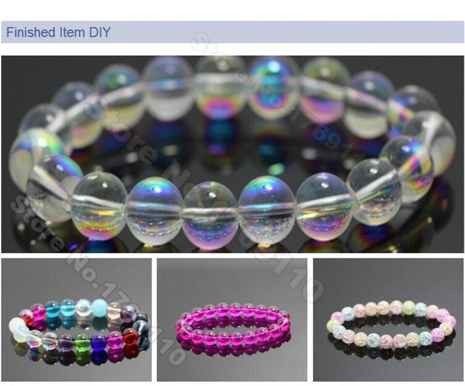 Tchèque Cristal Verre à Facettes Perles Rondes 6 mm clair 70 PC AB Art Hobby Artisanat