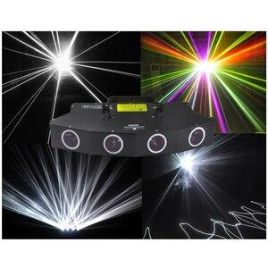 Image 1 - 900 mW led lazer sahne aydınlatma 4 kafa 4 tünelleri ana beyaz renk fill in işık 6 renkler lazer kiriş efektler lazer ışığı