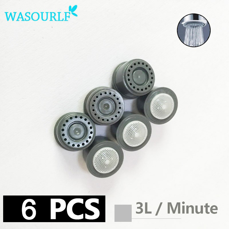 WASOURLF 6 Pieces 3L Water Saving Faucet Aerator Core M24 Male M22 Female Thread Tap Device Bubbler Free Shipping Wholesale