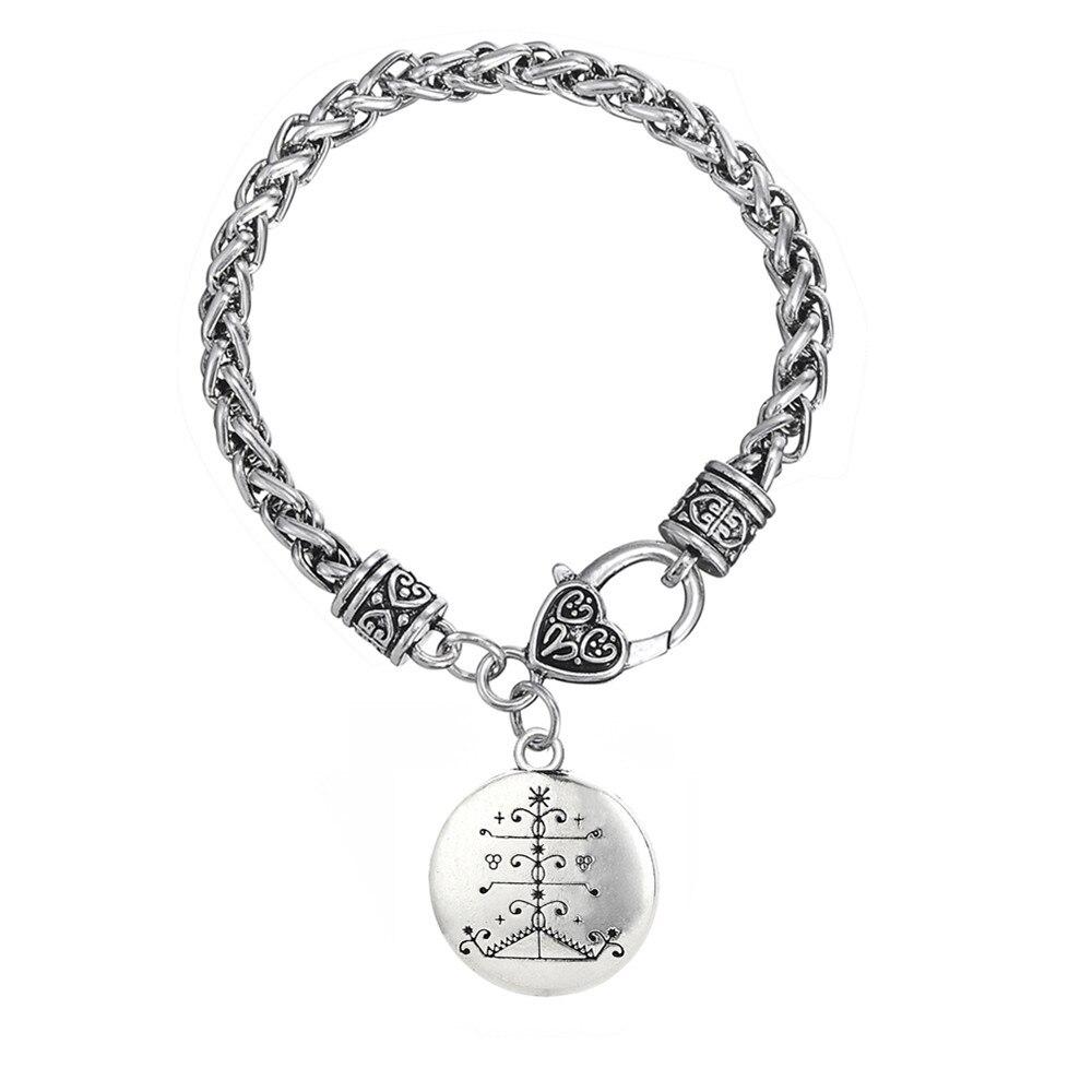 My Shape Ogou Feray Voodoo Bracelets Bangles for Women Loa Veve Amulet Chain & Charms Bracelet Men Vodoun Lwa Talisman Hoodoo