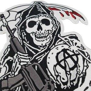 Image 2 - Synowie łatki Anarchy hafty żelazko na szyć na motocyklu spersonalizowana nazwa rocker OPIE niestandardowy patch tag biker ubrania aplikacja