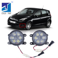 High Lumen Super Bright LED Fog Light For Renault Scenic Megane Koleos