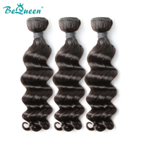 Bequeen Virgin Hair 100% Human Hair Brazilian Natural Wave Hair 1pc/lot 3pcs/lot 4pcs/lot Double Machine Weft