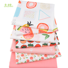 Chainho Printed Twill Cotton Fabric,Patchwork Cloth,Cartoon Fruit Tissue,DIY Sewing&Quilting Material For Baby&Children,7pcs/lot