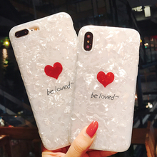 Fashion Heart-shaped Shell Pattern Sweet lady style Case For iPhone 7 Plus Transparent Love Heart Cover For iPhone 6 S 8x6 Capa стакан 9 8x6 7x6 7 bizzotto