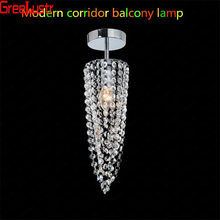 Ceiling Lamp Luminaire Plafonnier Crystal LED Lustre Ceiling Lighting Fixture For Home Balcony Aisle Corridor Staircase light(China)
