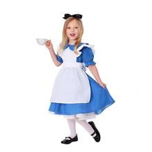 Детское платье для костюмированной вечеринки в стиле Лолиты «Алиса в стране чудес»; вечерние костюмы для детей