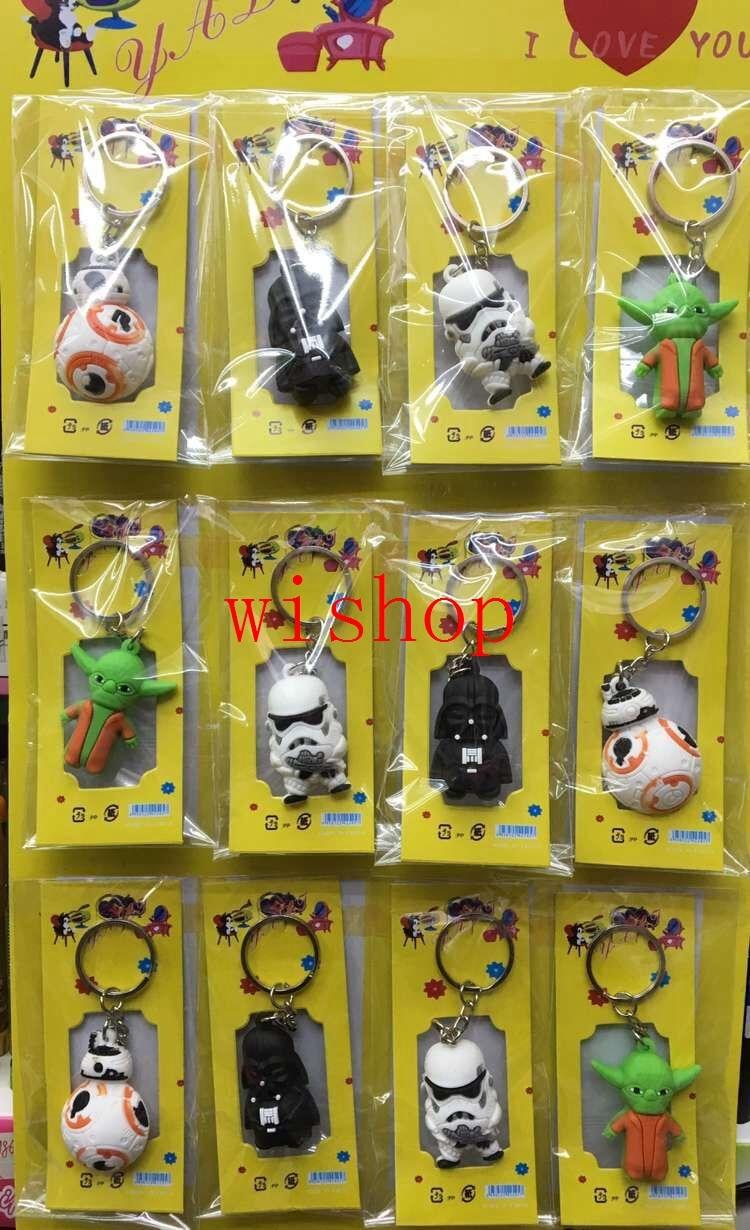 Free Shipping 12 Pcs Mix Star Wars PVC Key Chains  Pendant    Gifts Party Favors QA-10