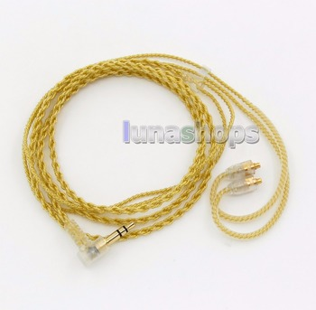 LN005934 Extremely Soft PVC OCC Golden Plated Earphone Cable For Shure se535 se846 se425 se215 MMCX
