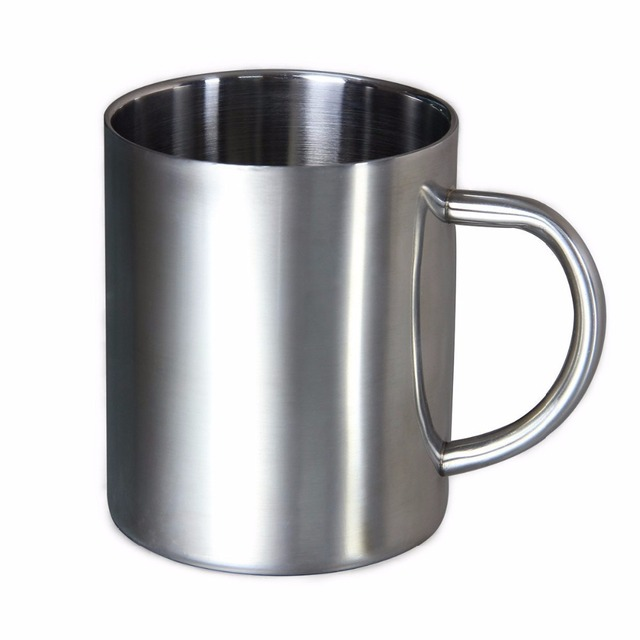 Free Shipping 1pc Stainless Steel Coffee Mugs Cuccino Cups Tea Cup Double Wall Food Grade Durable