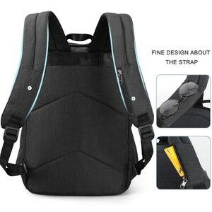 "Image 4 - Tigernu mochila para ordenador portátil de 15,6 ""para hombre, morral para ordenador portátil, con diseño de carga USB reflectante, antirrobo, resistente al agua"