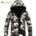 Moda de nova Winter & Autumn Jacket Men Quente Jaqueta Camuflada Homens Casaco Parka Jaquetas Casuais de Alta Qualidade Para Baixo Casacos
