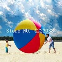 Бесплатная доставка 2 м очень большой гигант надувной пляжный мяч пляжный играть летний спортивный игрушка детская игра вечерние мяч откры