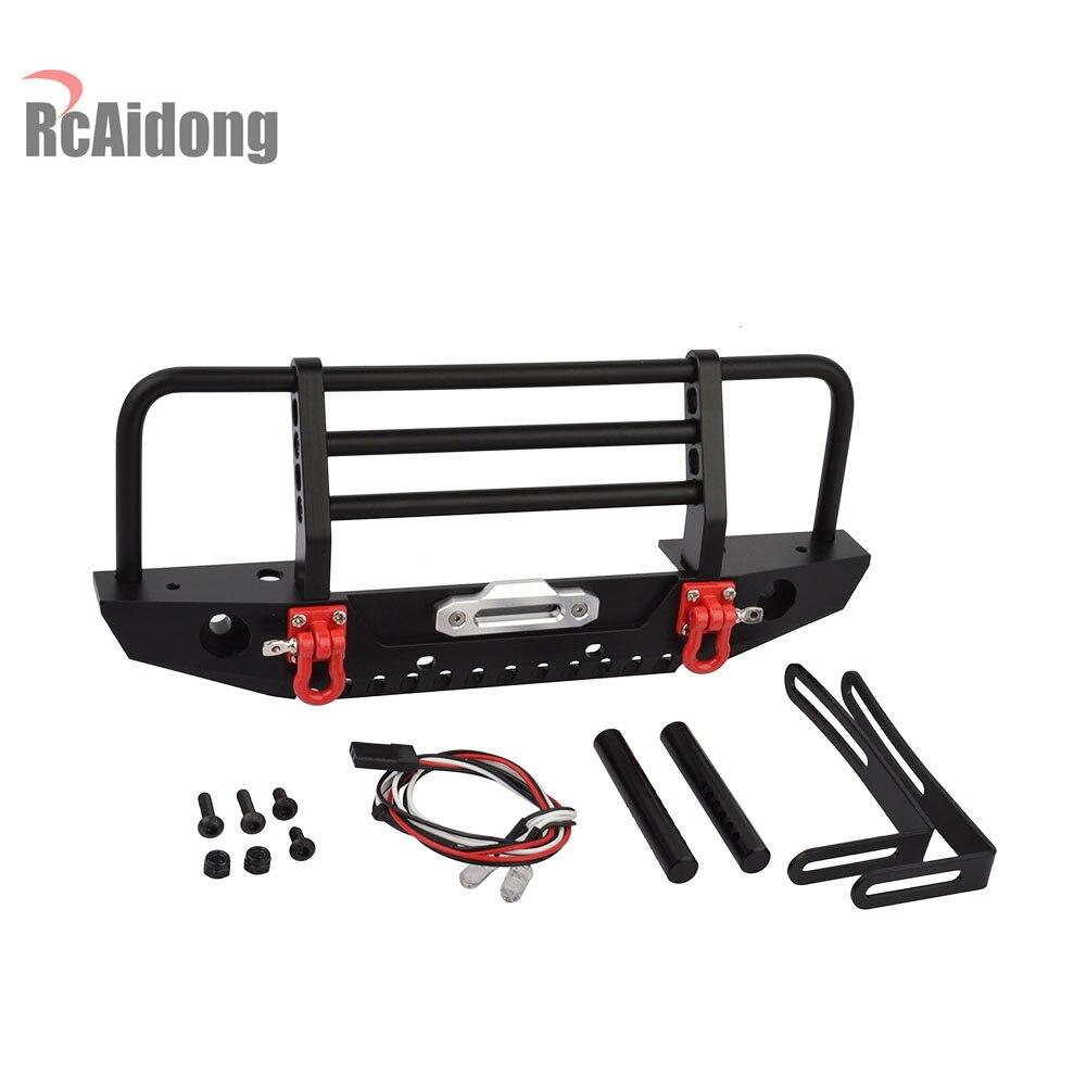 RCAIDONG Metal Front Bumper for 1/10 RC Crawler Car Axial SCX10 90046 Traxxas TRX-4 TRX4