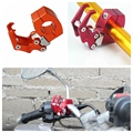 Universal Liga De Alumínio Moto Motocicleta Da bicicleta da bicicleta Gancho Carry Pacote Bagagem Capacete Dispositivo Cabide Luva Gancho Garra de Águia