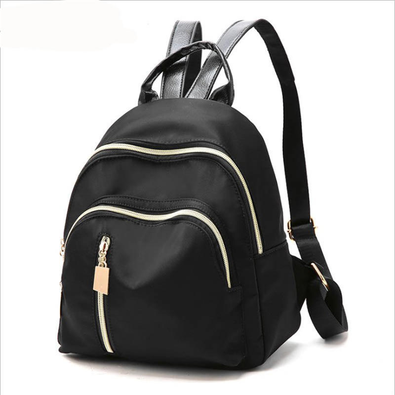 FenePovida 1PCS New Young Woman Backpacks Zipper Pure Color High Quality PU Leather Convenient School Bags