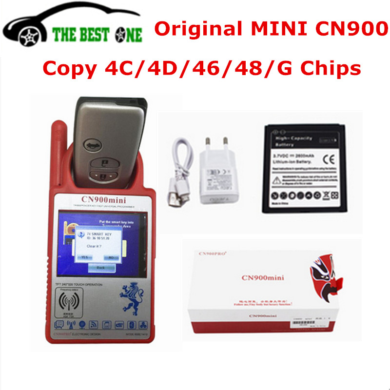 Smart CN900 Mini Transponder Key Programmer Copy 4C 46 4D 48 G Chip Mini CN 900 V15.8 Update Online CN-900 Cloner Free Shipping