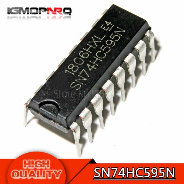 10pcs free shipping SN74HC595N SN74HC595 74HC595N 74HC595 DIP-16 Counter Shift Registers Tri-State 8-Bit new original